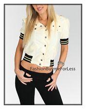 Celebrity Women Champagne Retro Faux Silk Satin Blazer Crop Military Jacket Top