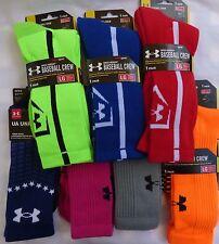 Under Armour CREW Socks UA Team Crew Baseball Heat Gear New Choose Size - Color
