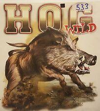 OUTFITTERS BOAR HUNTER HOG WILD HUNTING  HOODED SWEATSHIRT #533 HOODIE