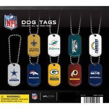 NFL DOG TAG KEYCHAIN PVC FOOTBALL 32 TEAMS KEY COWBOYS PACKERS PATS SUPER BOWL