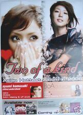 """BOA  & AYUMI HAMASAKI """"2 OF A KIND"""" THAI  POSTER:J -POP"""