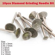 10pcs Diamond Rotary Dremel Burr Drill Engraving Bits Set For Jade Tiles Brick
