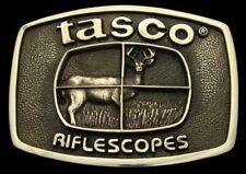 OD12146 GREAT VINTAGE 1978 BTS ***TASCO RIFLE SCOPES*** SOLID BRASS GUN BUCKLE