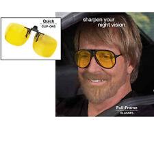 NIGHT DRIVING Eye GLASSES or CLIP-ON Lenses FilterOUT Blue Light Sharpen Vision