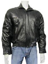 Nuevo Hombre Negro Suave Napa Clásico Cazadora Moda Cuero Chaqueta De Motorista Bicicleta Rock