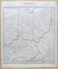 SDUK MAP 1833 NORTH AMERICA OHIO KENTUCKY VIRGINIA PUB. 1844