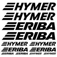 HYMER ERIBA aufkleber sticker wohnmobil camper wohnwagen caravan 12 Stücke Pcs