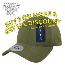 DECKY MENS BASEBALL HAT FLEX FIT HATS CAP CAPS CURVE STRETCH EXPANDABLE FIT