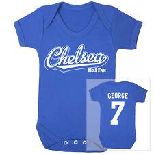 CHELSEA Football Personalised Baby Bodysuit Vest