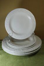 Martha Stewart MAPLE LEAF Round Dinner Salad Plates Embossed You Choose