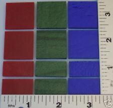12 - Mix Size Red, Green, Blue All Thin Bullseye 90 Coe