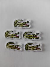 Lote 5 parches para Pegar  Alligator , Lagarto ,Deporte Cocodrilo 3,5/2 cm