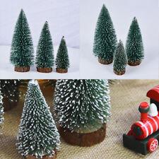 1-10x Mini Arbre Noël Neige Bois Fils Sisal Ornament Déco Table Maison Fête Mode