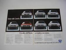 advertising Pubblicità 1982 LANCIA GAMMA/HP/TREVI/BETA