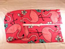Pink Flamingos on Fuscia Flamingo Fleece Scarf Xtra Long