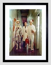 PHOTO 1962 MOON JOHN GLENN ENROUTE TO LAUNCH SPACE FRAMED ART PRINT B12X11012