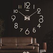 Moderne 3D Frameless Grand Affichage Silencieux Horloge Murale DIY Horloge