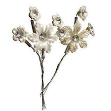 Premium Pearlised Flower Diamante Sprays - Crystal Spray Bouquet Pearl Bridal