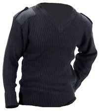 Naval Jersey Para Hombre Militar Sudadera Azul Heavy Duty Knit Pullover Royal Navy
