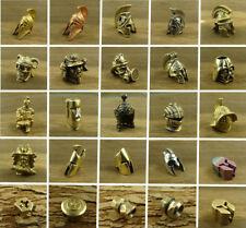Brass & Titanium Sparta Lanyard Bead Paracord Knife Tool Pendant Knife Beads