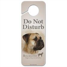 Bullmastiff Dog Breed Plastic Door Knob Hanger Sign