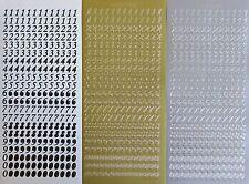 8mm (1cm)Numbers Type4 PEEL OFF STICKERS 0 - 9 Number Cardmaking