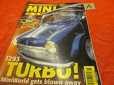 MINI WORLD MAGAZINE May 1997 GpA RALLY 1293 TURBO T2 NEC RIVIERA RUN MK1 MK2 GT