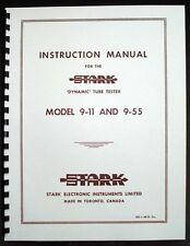 STARK model 9-11 9-55 Tube Tester Manual, Tube Data