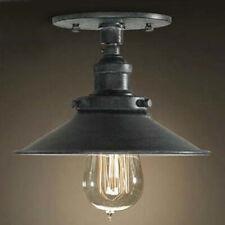 Antique Black 1 Light Industrial Style Semi Flush Mount Ceiling Light Fixture