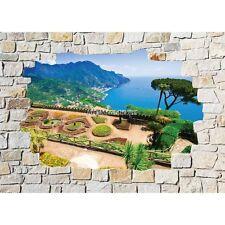 Stickers mural mur de pierre Vue sur mer 8521