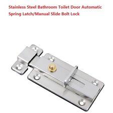 Cerradura de puerta de acero inoxidable con cerradura deslizante para inodoro de ba/ño