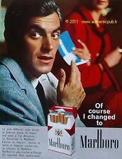 PUBLICITE CIGARETTE AMERICAINE MARLBORO 1963 FRENCH AD