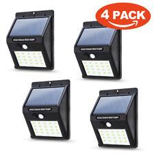 Waterproof 20 LED Solar Power PIR Motion Sensor Wall Light Outdoor Garden Lamp L