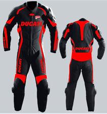 Ducati Motociclo Cuoio Tuta Pelle Corsa Ciclista Motocicletta Moto Sport Adulte