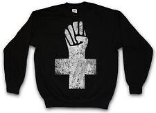 ANARCHIST CROSS SWEATSHIRT PULLOVER Anarchy Logo Symbol Anarchie Punk Demo Fist