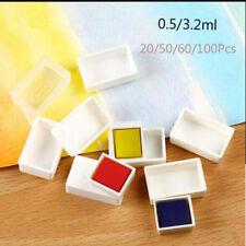 Artists Painting Palette Supplies Pigment Box Watercolor Storage Paint Pans