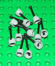 LEGO - Lever, Shift,  Antenna - Small Base (X8) - Light Gray / Black