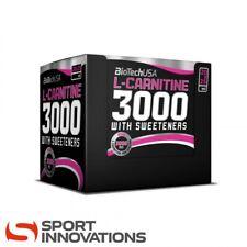 (47,80€/1l) Biotech USA L-Carnitine 3000 20x25 ml Fatburner + SHAKER & PROBE