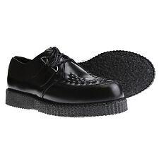 Boots and braces Creeper New Negro zapatos Creepers cuero Black nuevo zapato bajo