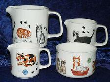 Cats & Kittens milk jugs, choice 3 sizes jug, or sugar pot bowl 4/7/10oz