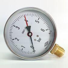 "Manometer Ø100mm  G1/2"" unten,  - alle Messbereiche - EMPEO - Made in Germany"