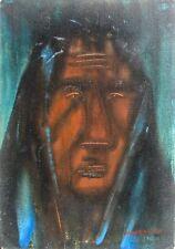 GIANDANTE X (Pescò Milano 1899-1984) VOLTO CAPOLAVORO encausto cm 35x50 anni '60