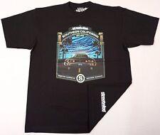 STREETWISE SANTA MONICA T-shirt Southern California Tee Adult Men Black NWT