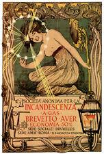 Vintage Ad POSTER.Stylish Graphics.Incadescenza  petrleum Lamp Art.1866
