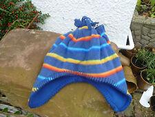 F & F Rainbow Stripe Fleece Hat e muffole Serie 2 4 ANNI 18 24 mesi nuovo con etichetta