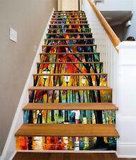 3D Licht Baum 7845 Stair Risers Dekoration Fototapete Vinyl Aufkleber Tapete DE