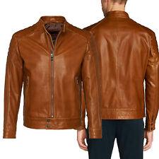 DE Herren Lederjacke Biker Men's Leather Jacket Coat Homme Veste En cuir R116c