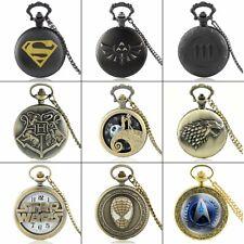 Pe 00004000 ndant Necklace Chain Gift Steampunk Antique Retro Pocket Watch Quartz Vintage
