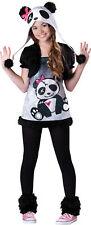 Pandamonium Tween Girls Costume Teen Safari Mascot Animal Party Halloween