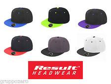 Cappello RESULT rapper BRONX ORIGINAL acrilico twill visiera piatta RAP caps #